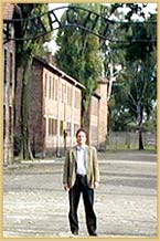 Ed at Entrance to Auschwitz Concentration Camp